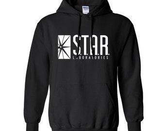 STAR Labs Sweatshirt Star Laboratories S.T.A.R. Lab The Flash Hoodie Hoody Hooded Sweater Sweatshirt Crew Neck Crewneck Pullover Unisex