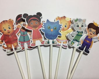 x12 Daniel Tiger Characters Inspired Cupcake Toppers