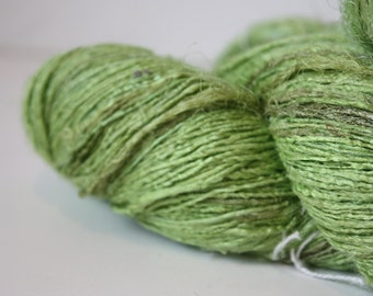 NEW***Handspun Recycled Mulberry Silk - Lime Sorbet
