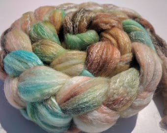 Hand dyed Panda top, superwash merino, bamboo, nylon 4 oz