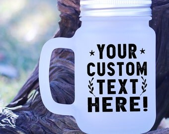 Custom Mason Jar Mug,Custom Mug,Personalized Drinkware,Custom Mug for Mom,Country Wedding Mug,Engagement gift,Personalized Mason Jar,FMJ_102