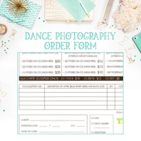 Infinityimage  School Dance Or Dance Team Photography Order Form
