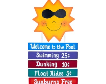Outdoor Pool Sign - Welcome to the Pool Sign-Sunshine