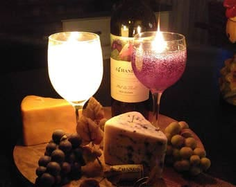 Cabernet Wine Candle , Cheese Wedge Candle and a cluster of Grapes Candle Platter!