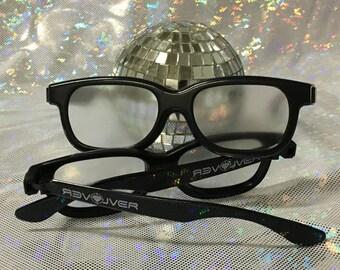 Heart Diffraction Glasses  //  Plastic Frame Firework 3D Prism Diffraction Rave Glasses