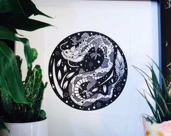 Lucky Dragon - giclée print
