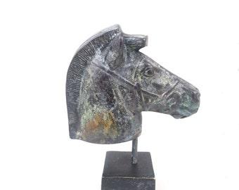 Head of a horse Bronze Sculpture , Horse head statue from Ancient Greece, Greek Sculpture , Hand Made in Greece