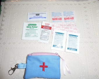 First Aid Kit / First Aid  Key Ring Case / First Aid Case / Boo Boo Case / Bandaid Case
