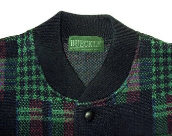 Vintage Bueckle Manner Maschen Mode men cardigan waistcoat