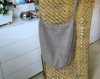 Crochet BAG Cotton blue