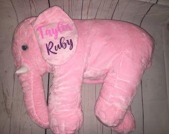 "24"" Personalized Plush Elephant Baby Sleeping Pillows"