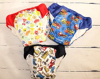 set of 3 XXL (7/8) Overnight Heavy Wetter potty training pant, Ecofriendly pull ups, nighttime cloth pants, outdoor potty training underwear