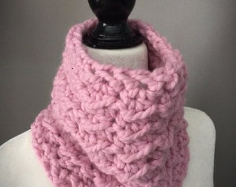 Toddler Crochet Cowl/Toddler Neck Warmer/Chunky Scarf/Blossom