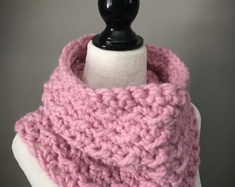 Adult Crochet Cowl/Adult Neck Warmer/Chunky Scarf/Blossom