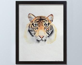 Original Bengal Tiger Watercolor Painting