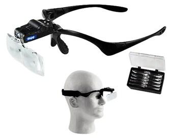 Jewelers Head Headband Magnifying Glasses Loupe Multi Magnifications Visor Wa 303-125