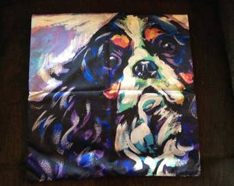 Cavalier King Charles Spaniel Satin Pillow Cover - Beautiful Top Quality!!!