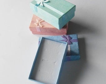 Small Gift Boxes, Multi-Use Design, Necklace Wrapping, Earring Display Case, Cuff Link Packaging, Tiny Containers, Colourful Special Present