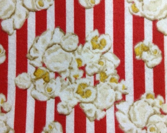 One Half Yard of Fabric Material - Popcorn FLANNEL