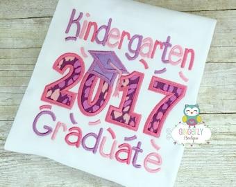 Kindergarten Graduate 2017 Shirt, School Graduation, Preschool Graduation, Graduation, Graduation 2017, Girl Preschool Graduation