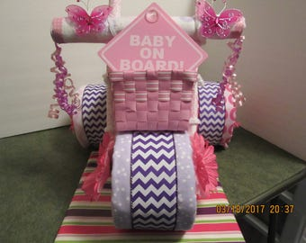 Girl Basket Tricycle Diaper Cake