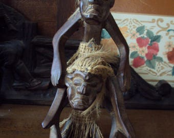Indonesian handicraft manufacturing statues and dating back to the years 1960-70.