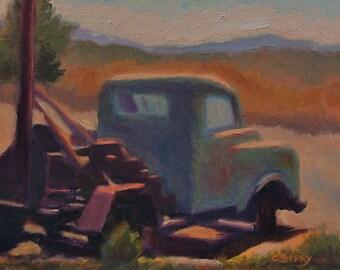 Landscape in oil, Abandoned Rig