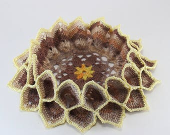 Sunflower Crochet Doily - Spring Easter Table Decoration - Home Decor - Gift idea for moms - Mother's Day Gift
