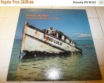 Save 30% Today Vintage 1973 Vinyl LP Record Jimmy Buffett Living and Dying in 3/4 Time Excellent Condition MCA Records 576
