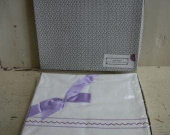 Pair of Vintage Cotton Linen Pillow Cases