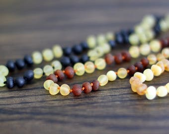 Amber teething necklace, baby teething necklace, baltic amber necklace, baltic amber, baby necklace, teething, baby gifts, raw amber