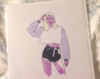 Fashion Girl Card