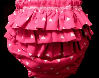 Hot Pink Ruffle Diaper Cover