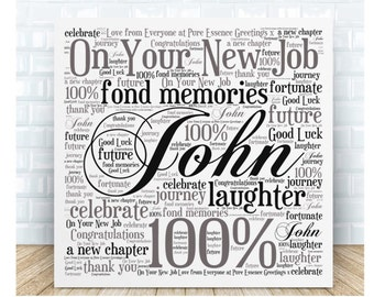 New Job Message Plaque - Personalsed Gift