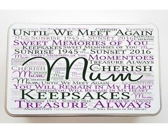 Personalised Memorial Word Art Tin