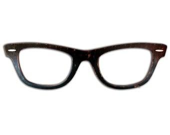 Large Wayfarer Eyeglasses Big Wayfarer Sunglasses Large Black Eyeglasses Optometrist Office Eye Doctor Wall Decor Optical Shop Art Glasses