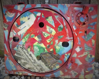 One of a kind Turntable Painting