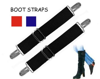 BOOT STRAPS - Available in 3 Colors and 2 Sizes for Better Fit - Adjustable
