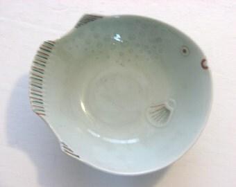 Fish shaped bowls etsy for Fish shaped bowl