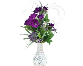 Small, Silk Floral Arrangement - I'm Adorable in our Patique Collection