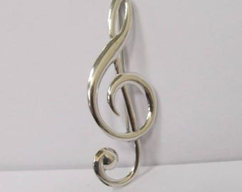 Vintage Sterling Silver Danecrraft Music Pin W #486