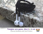 iPhone 6 Headphones, Wrapped Earbuds for iPod, iPad, Your Choice of Colors Unique Gift for High School Graduation College Student