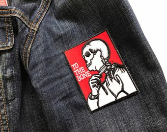 To the bone, patch very cool for your demin jacket or coat.