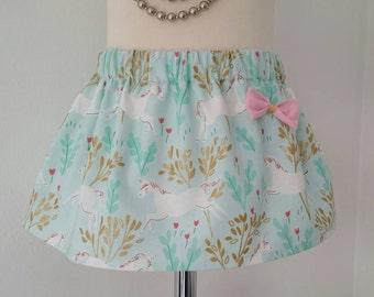 Unicorn skirt, unicorn party, girls skirt, spring clothing, kids clothing, UK