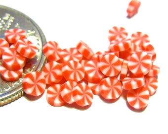 Red Peppermint Swirl Candies 20pcs