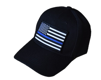 Thin Blue Line Hat // Support Law Enforcement // Thin Blue Line Flag