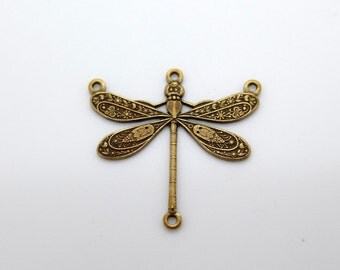"""Antique Brass Dragonfly Accent needed for """"Dragonfly Dance"""" Bracelet Pattern"""