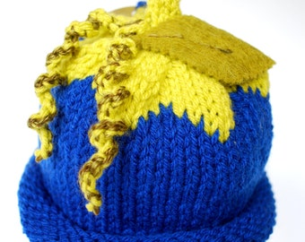 Blueberry Baby Hat, hand knitted