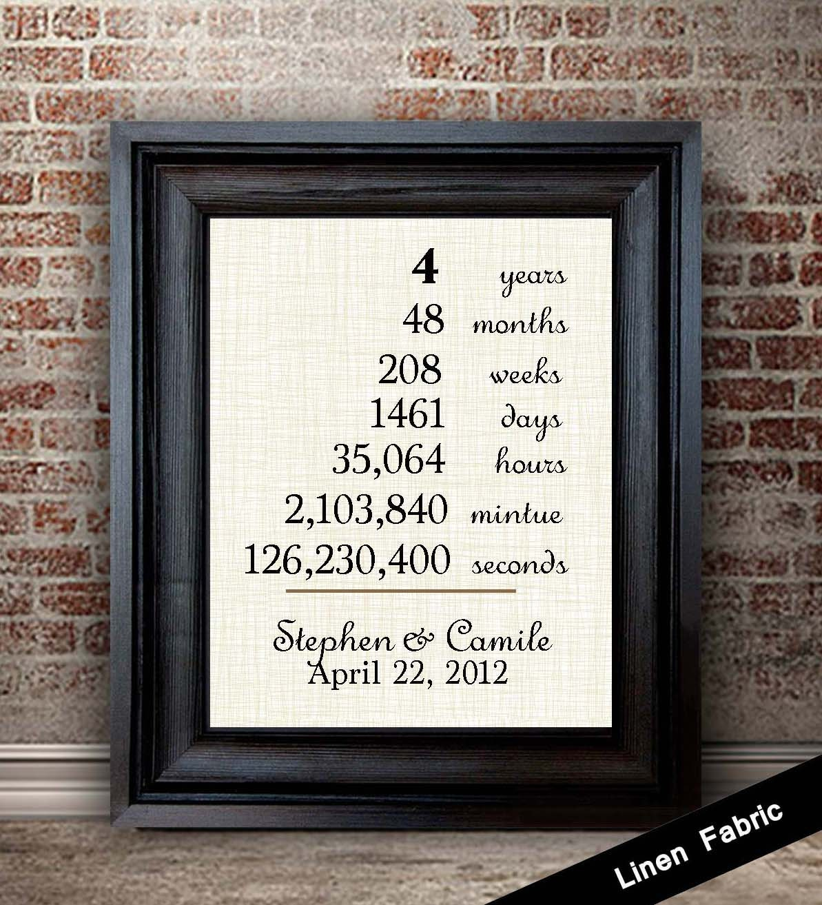 4th anniversary gift for wife linen anniversary gift 4 What is the 4 year wedding anniversary gift
