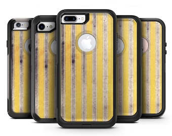 Vintage Brown and Yellow Vertical Stripes - OtterBox Case Skin-Kit for the iPhone, Galaxy & More